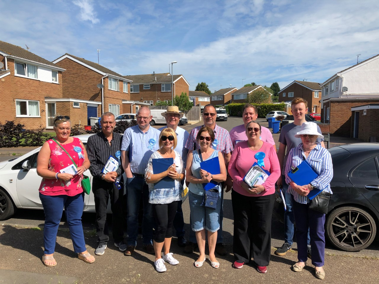 Your local Conservatives, canvassing in Rothwell, June 2019